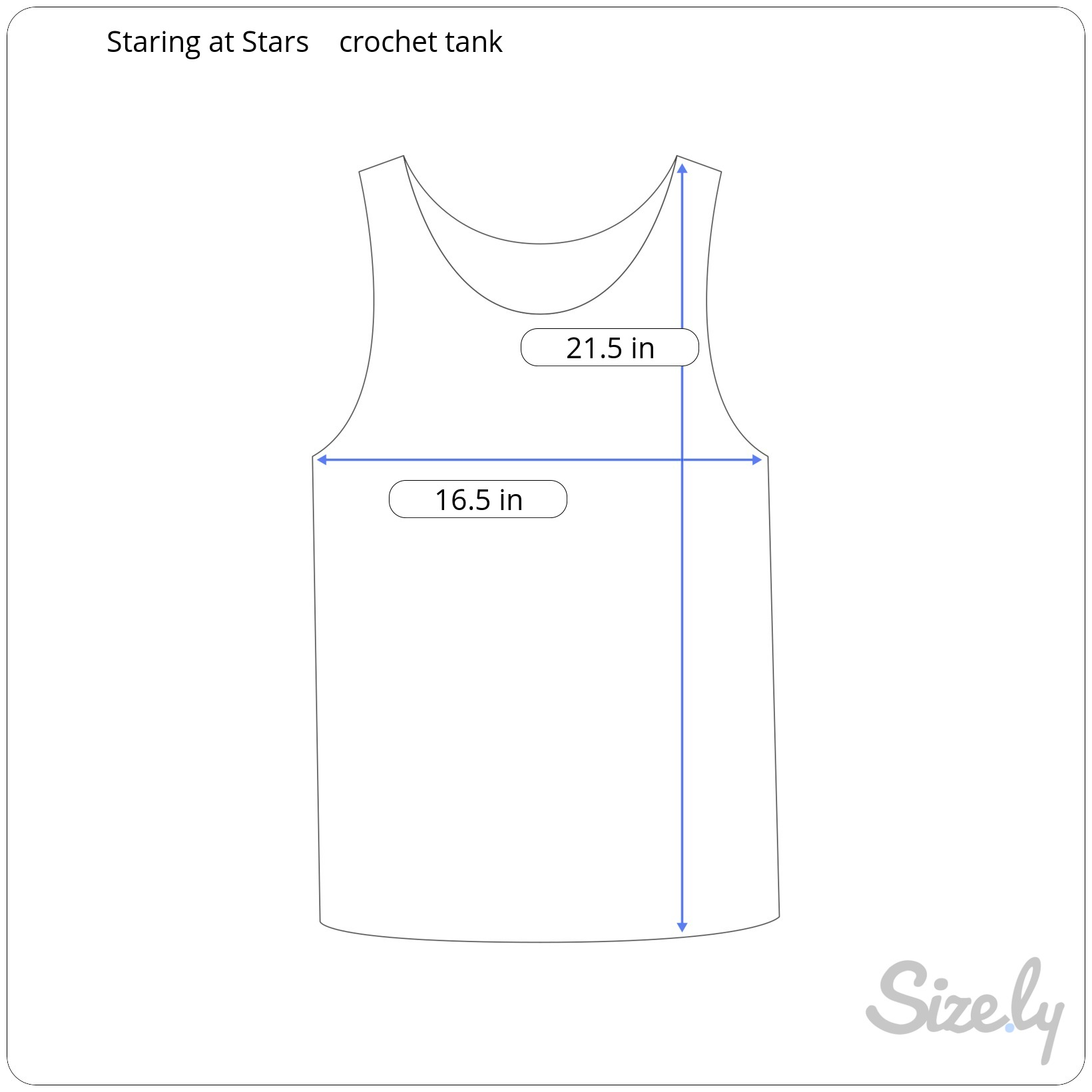 Sizely template example - how to take clothing measurements
