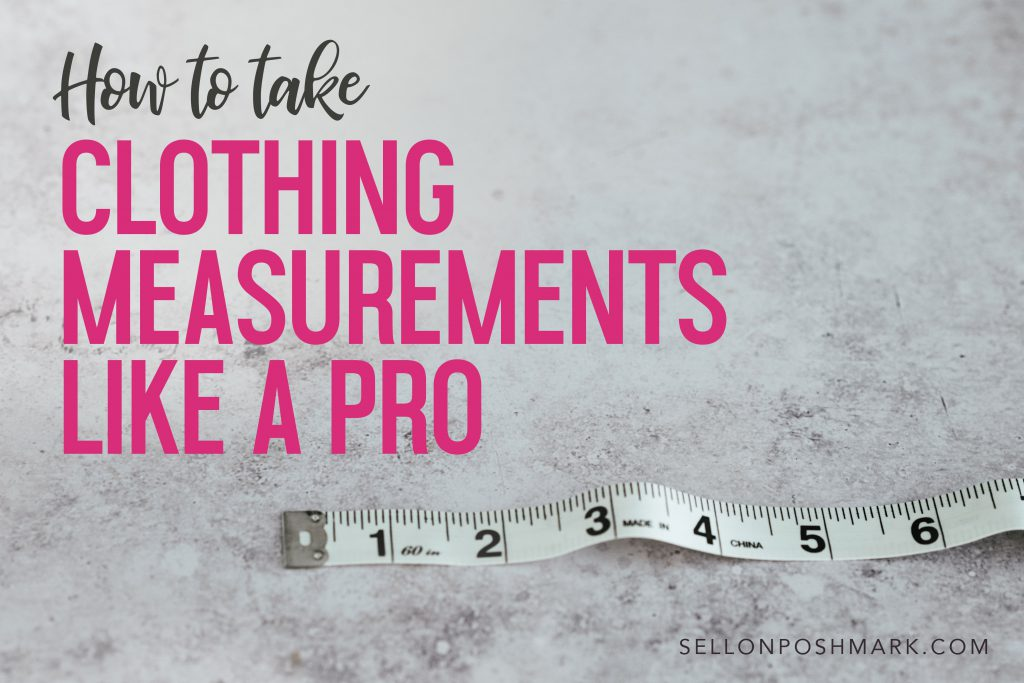 how to take measurements for clothing